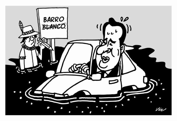 Caricatura de VIC Presa – Barro Negro