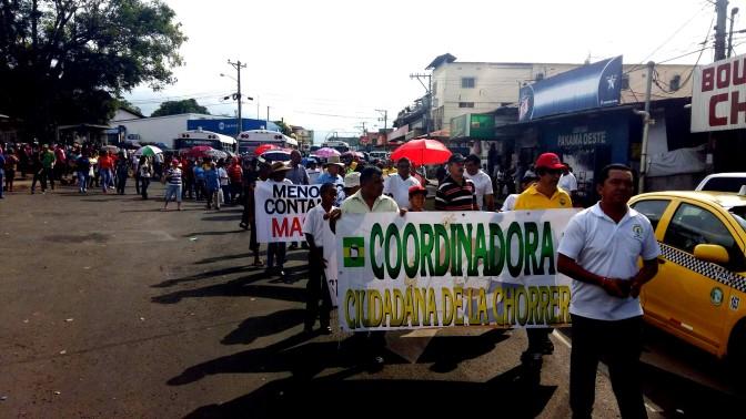 Coordinadora Ciudadana de La Chorrera marcha en rechazo de ampliación de termoeléctrica