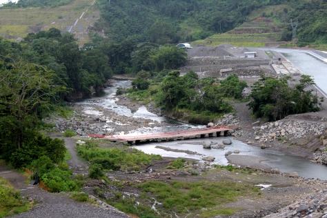 Río Chiriquí Viejo en la cuenca baja junto donde se construyela hidroeléctrica Bajo Frio