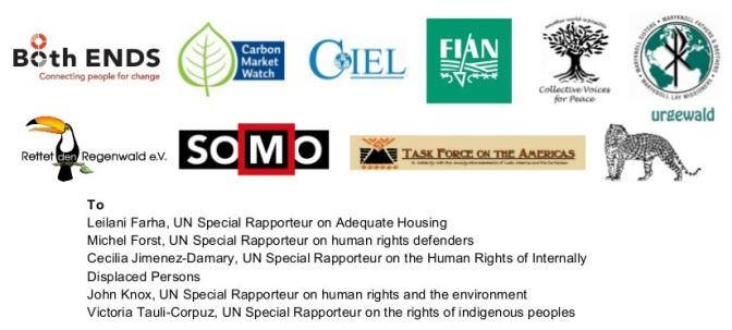 Carta abierta a los relatores especiales de la ONU: solicitud para llevar a una visita in situ para evaluar la situación con respecto a Barro Blanco