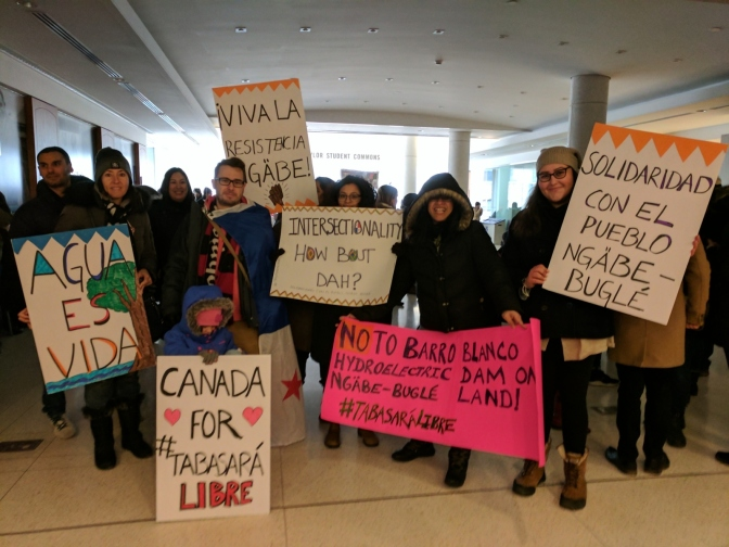 The action by a group of Panamanians and friends at Toronto's International Women's Day