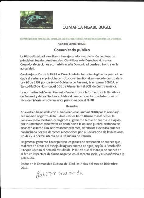 M10 comunicado 2