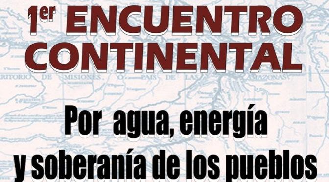 FORO INTERNACIONAL: Agua, energía y soberanía de los pueblos
