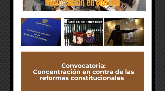 Concentración contra las reformas constitucionales